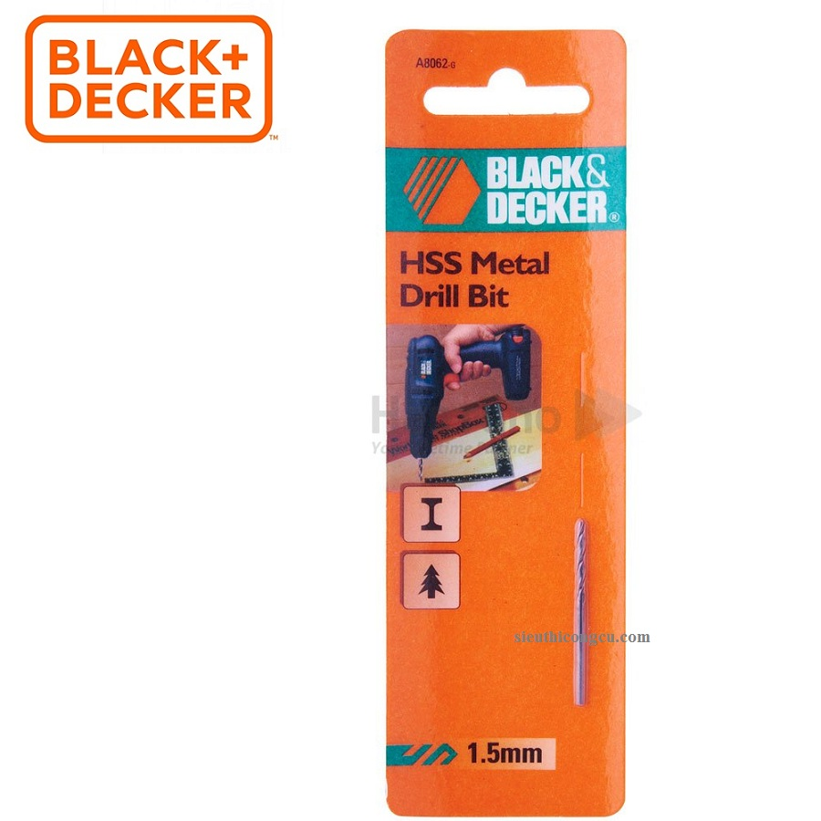 1.5MM MŨI KHOAN SẮT HSS BLACK-DECKER - A8062