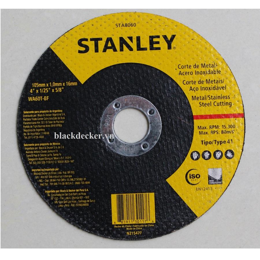100x1.0x16mm ĐÁ CẮT INOX VÀ SẮT STANLEY - STA8060