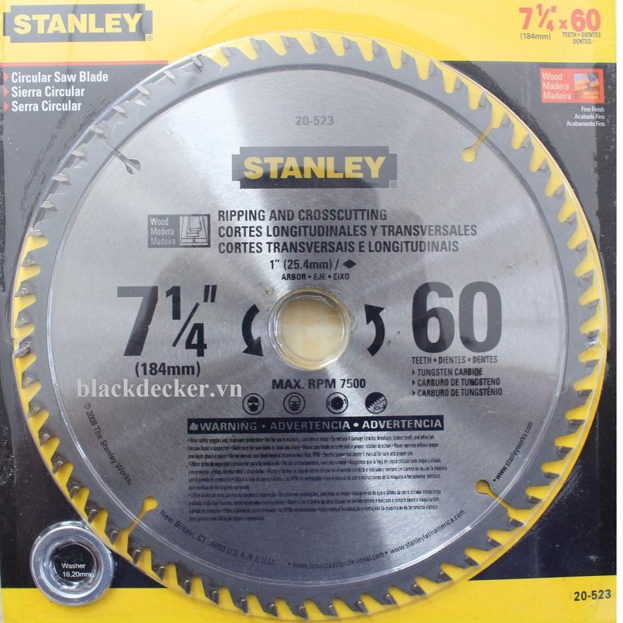 184MM x 60T LƯỠI CƯA GỖ STANLEY 20-523