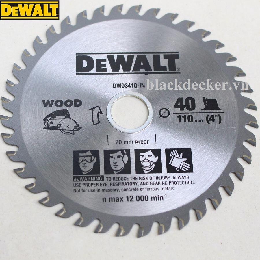 100MM x 40T LƯỠI CƯA GỖ DEWALT - DW03410