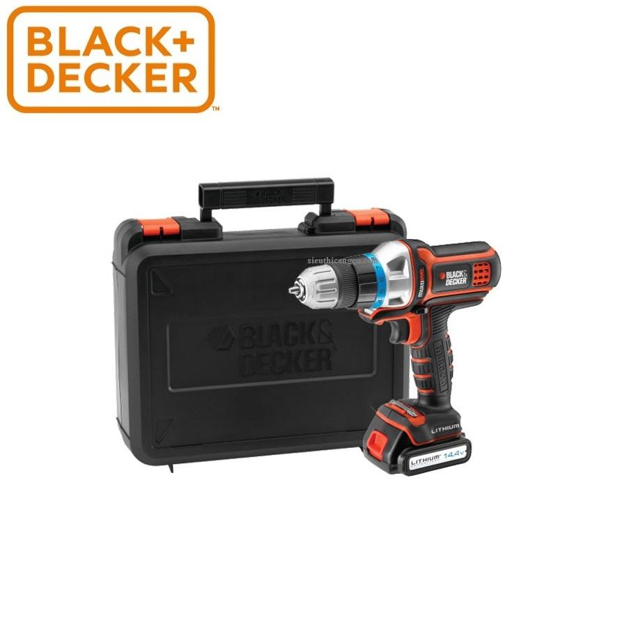 10.8V Máy khoan Black-Decker  KÈM 2 pin Li-ion - TÚI VẢI - EGBL108KB-B1