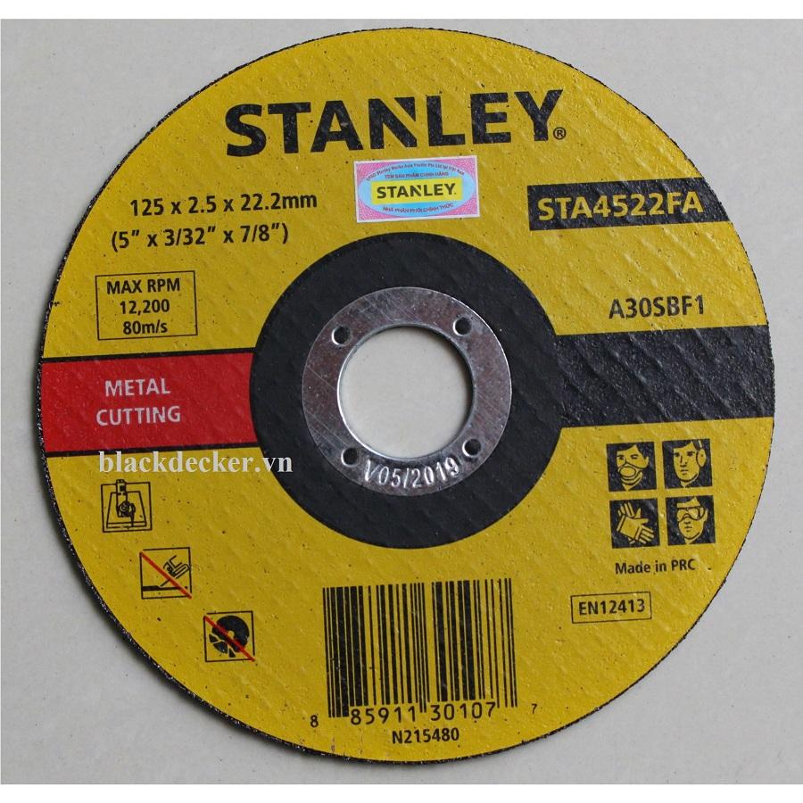 125x2.5x22mm ĐÁ CẮT INOX VÀ SẮT STANLEY - STA4522FA