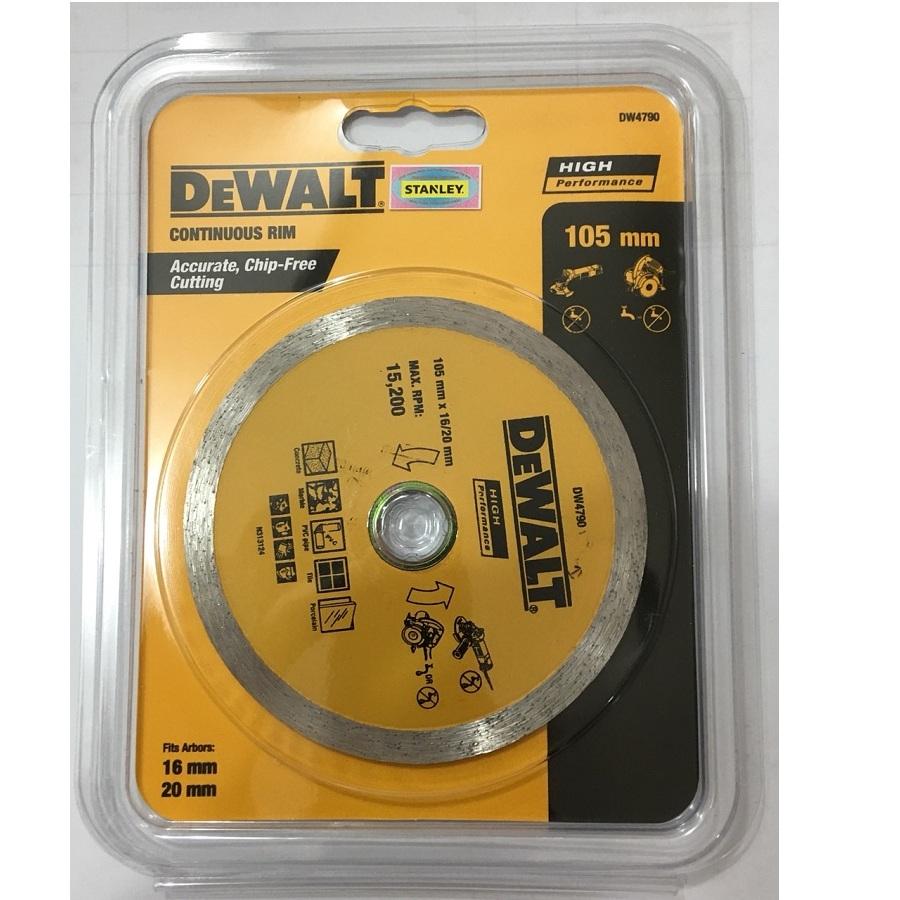 105 x 20MM LƯỠI CẮT GẠCH ƯỚT DEWALT - DW4790